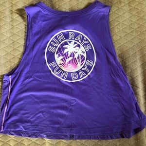 Purple Ivivva tank top in size 10